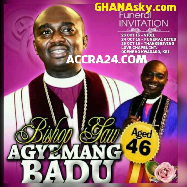 Bishop Agyeman Badu's Final Funeral Rites At Kumasi