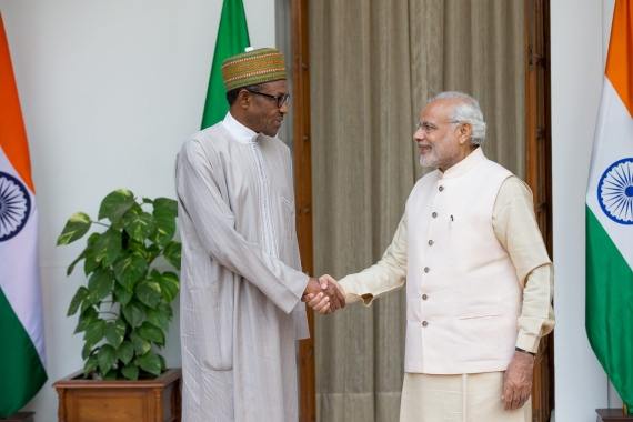 "In India, Buhari swears: ""We'll recover all stolen money and prosecute thieves"""