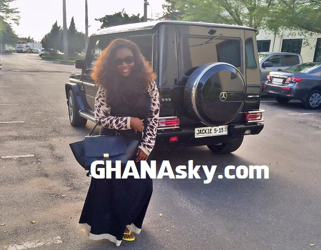 Jackie Appiah buys G-Wagon For $137,150; customised number plate