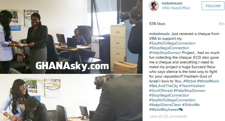 Mzbel recieves money from VRA
