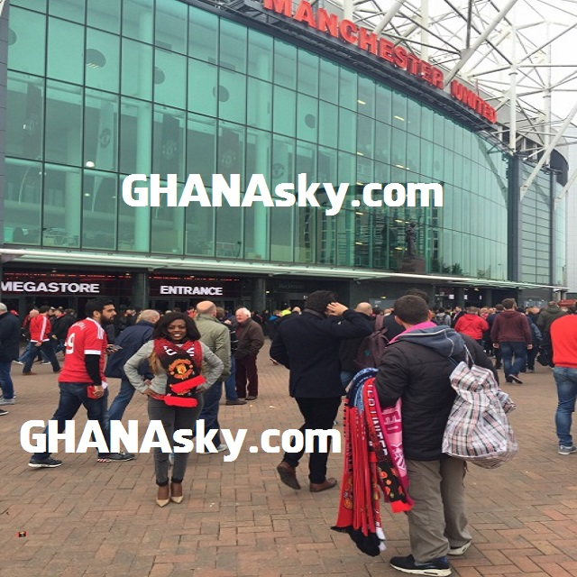Nana Aba finally spotted at Old Trafford