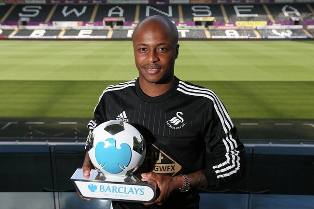 Ghana star Andre Ayew was nominated by Swansea City