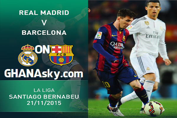 Real Madrid vs Barcelona LIVE Streaming Online TV with statistics