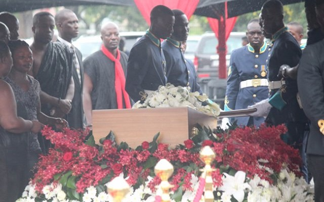 [Video+Photos] JB Danquah's Funeral, His Wife Ivy's Farewell In Tears