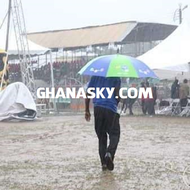 Heavy rains darken NDC manifesto launch at Sunyani [Photos]