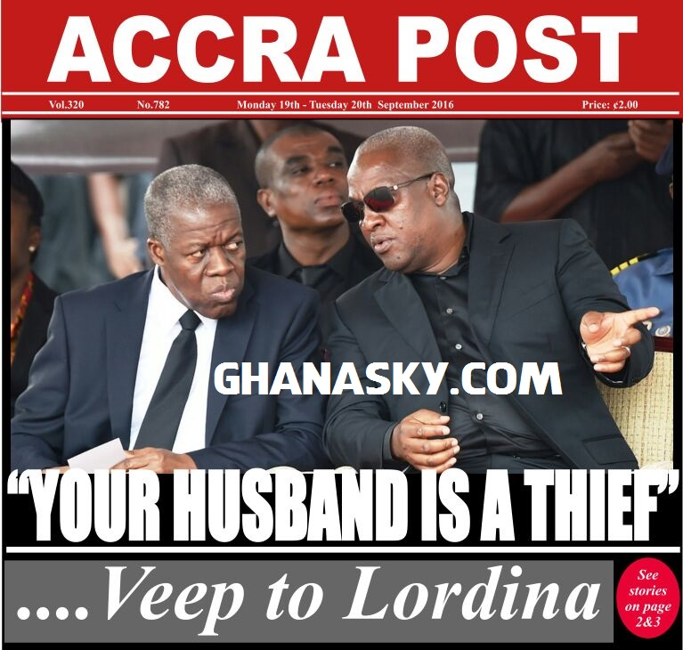 Your husband is a thief - Amissah Arthur to Lordina Mahama
