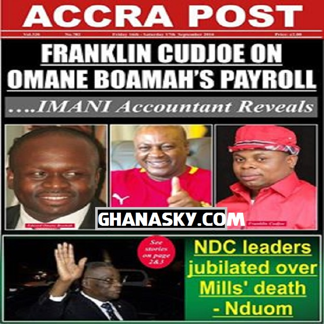 Franklin Cudjoe on Omane Boamah's Payroll - IMANI Accountant Reveals