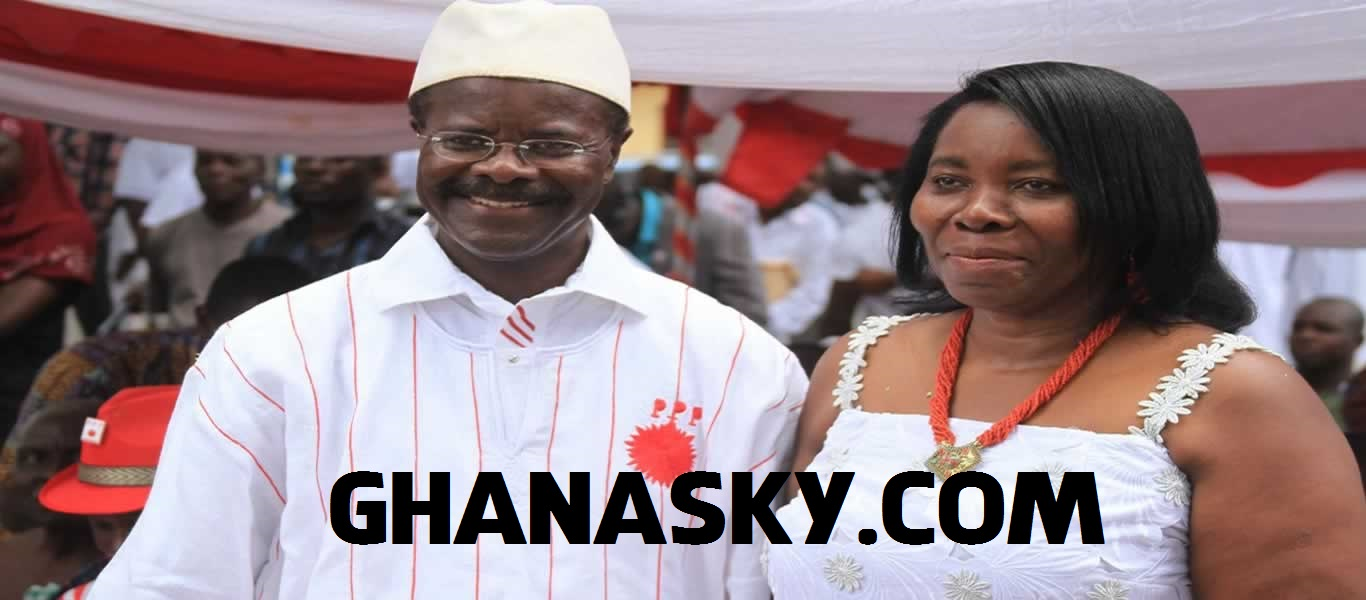 Dr Papa Kwesi Nduom(L) and Late Madam Eva Naa Amerley Lokko (R)