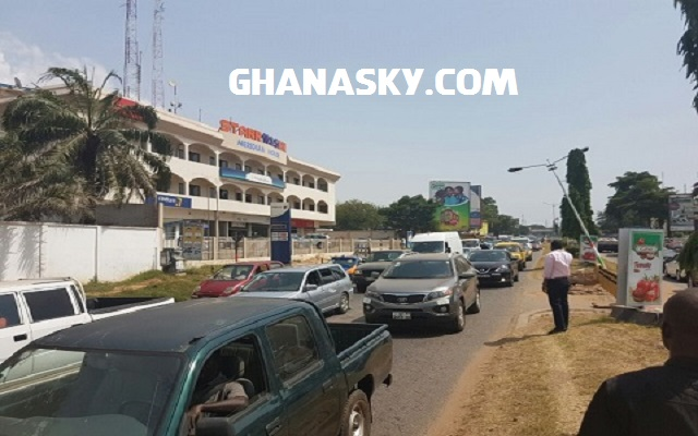 Traffic in Accra after Nkrumah Interchange commissioning