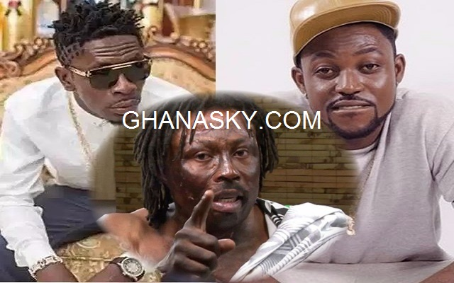 Nana Kwaku Bonsam (Middle), Shatta Wale (Left) and Yaa Pono (Right)