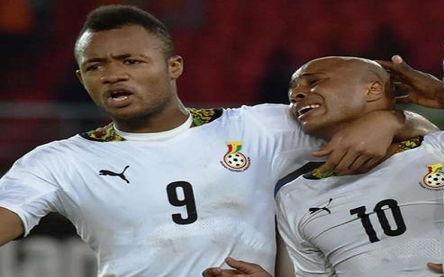 Jordan Ayew (Left) and Andre Ayew crying (Right)