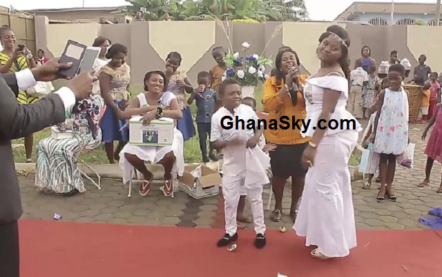 Can little Yaw Dabo climb this heavy machine or impenetrable lady, after tied the knot? [Video & Photos]