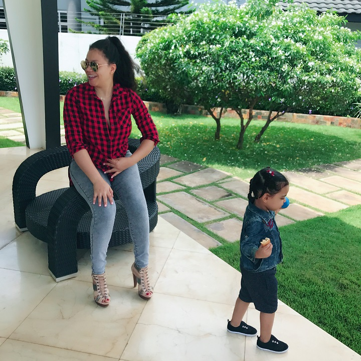 Nadia Buari Shares Lovable New Photos Of Her Twin Daughters