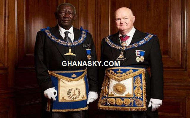 Ex-President John Agyekum Kufuor is a Freemason, he is promoted to Senior Grand Warden of the United Grand Lodge [Watch Photos]