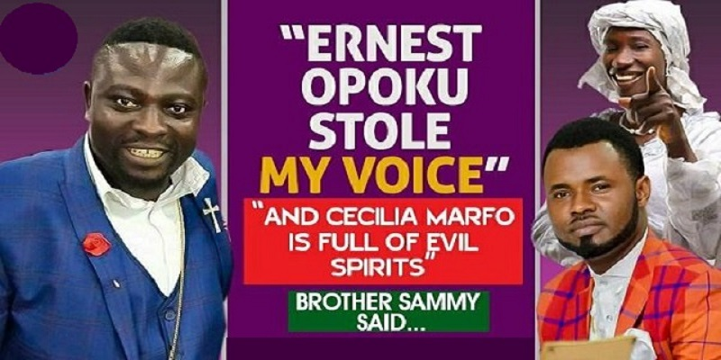 "Brother Sammy Exposed Gospel Singers on Delay TV Show - ""Ernest Opoku stole my voice and Cecilia Marfo is full of evil spirits"" [Video]"
