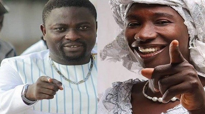 Abeiku Santana displaying illuminati signs at Ebony's funeral [Watch Full Video]