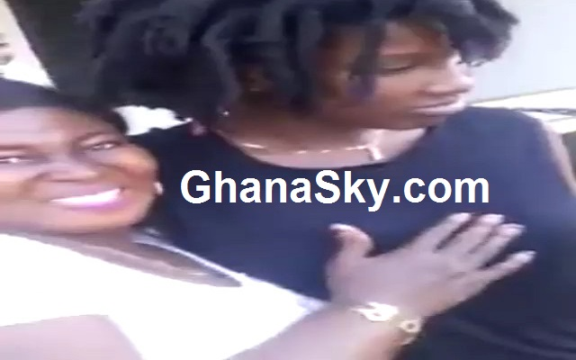 Ebony's Auntie Touches Ebony Breasts