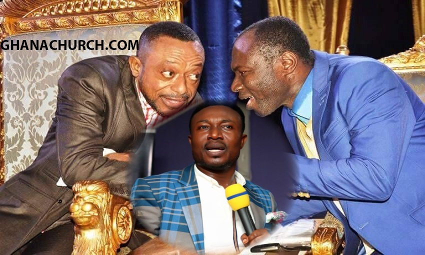 Apostle Dr. Isaac Owusu Bempah (Left), Prophet Eric Osei Frimpong (Middle) And Prophet Emmanuel Badu Kobi (Right)