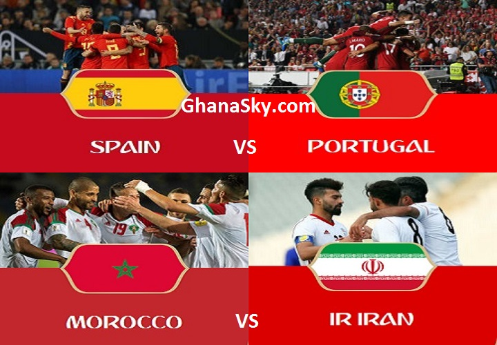 FIFA World Cup Russia 2018 Group B Teams, Matches, Schedule, Venues, Standings, Time Table, Fixtures, Kick-off Times And Group Results.