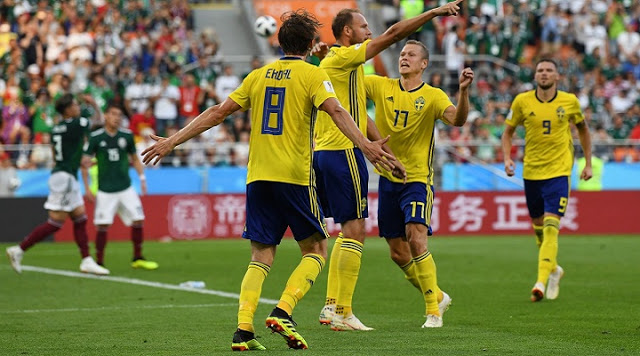 Sweden brush aside Mexico to top table