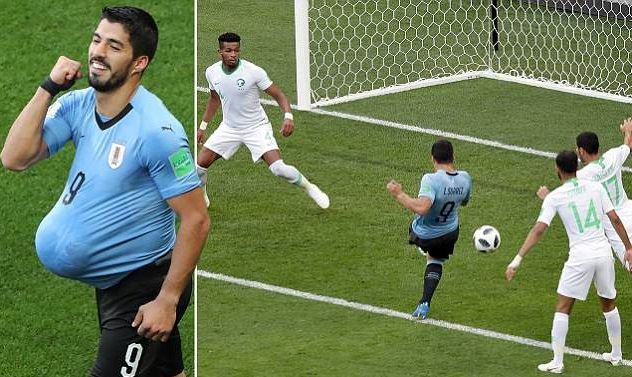 Uruguay vs Saudi Arabia at FIFA World Cup 2018, Luis Suarez nudges unconvincing Uruguay into second round as Saudi Arabia slump out