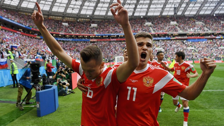 Russia thrashed Saudi Arabia 5-0, in FIFA World Cup 2018 opening game