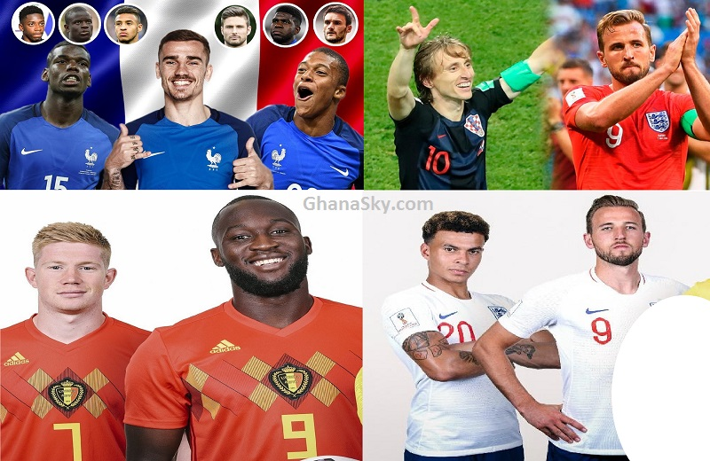 2018 FIFA World Cup Russia Semi-finals: France vs Belgium and Croatia vs England Matches, fixtures, Schedules, Full results, Tournament statistics, Matches played 60, Goals scored, Venues, FIFA TV Channels etc.