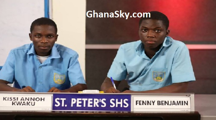 Kissi Annoh Kwaku and Fenney Benjamin, final-year students who represented St. Peter's Boys Senior High School.