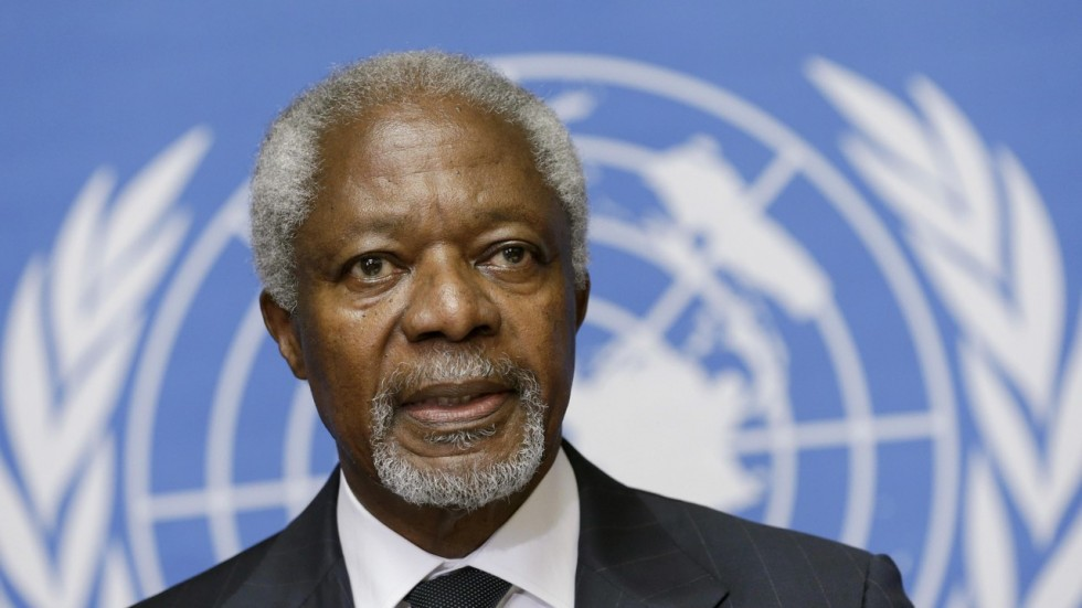 Kofi Annan from (1938 - 2018) is reported dead in Switzerland, Saturday after a short illness.