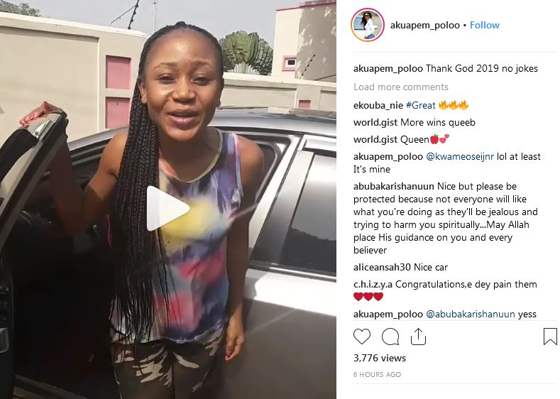 Akuapem Poloo buys a car out of her social media f00ling money [Video]