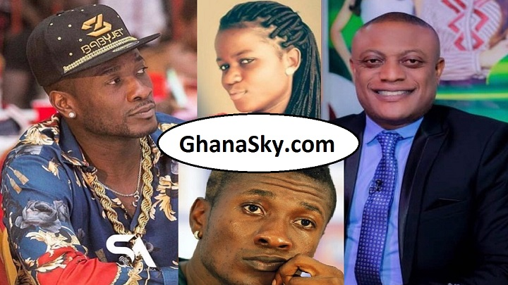 Ghana Black Stars Captain Asamoah Gyan, Sarah Kwablah and Lawyer Maurice Ampaw