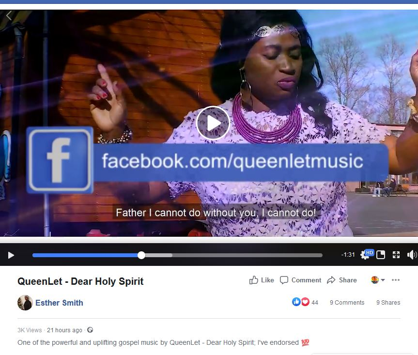 Gospel Queen Esther Smith Has Endorsed QueenLet