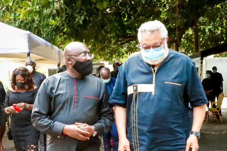 Dr Mahamudu Bawumia suspends campaign over J.J. Rawlings' death.